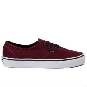 Burgundy vans port royal red authentic
